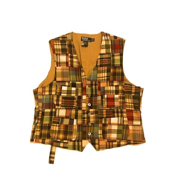 Polo by Ralph Lauren Other - Polo Ralph Lauren Patchwork Plaid Button Vest